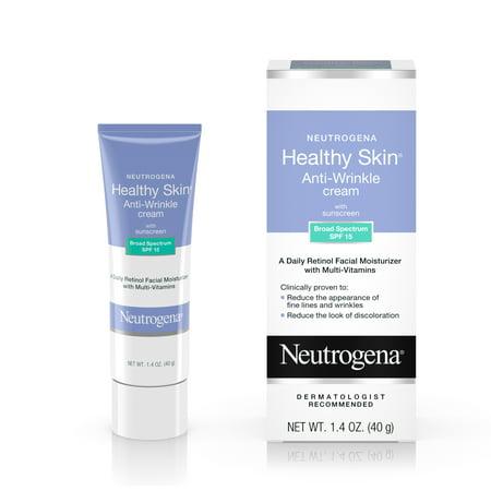 Oil Free Massage Cream - Neutrogena Healthy Skin Anti-Wrinkle Cream, Retinol & SPF 15, 1.4 oz