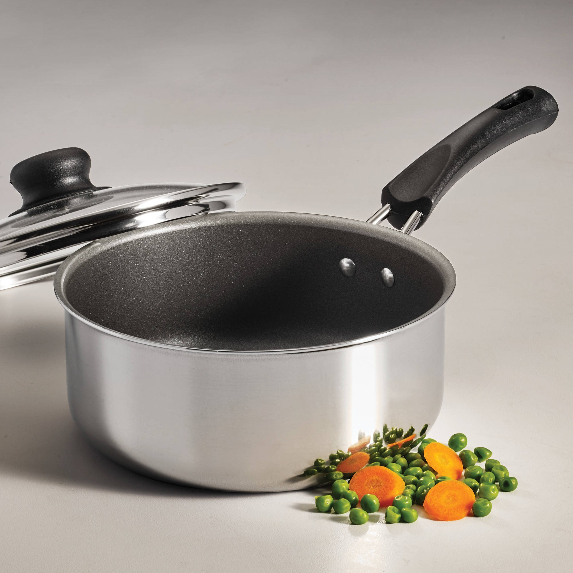 Tramontina Simple Cooking 2-Quart Polished Nonstick Covered Sauce Pan