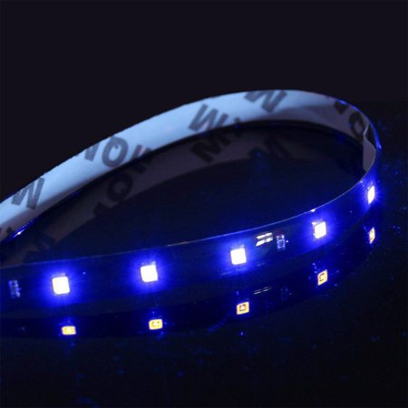 36 Inch Strip Fixture - 45-LED Strip Blue 12V Flexible Self-Adhesive SMD 1210 3ft / 36-inch