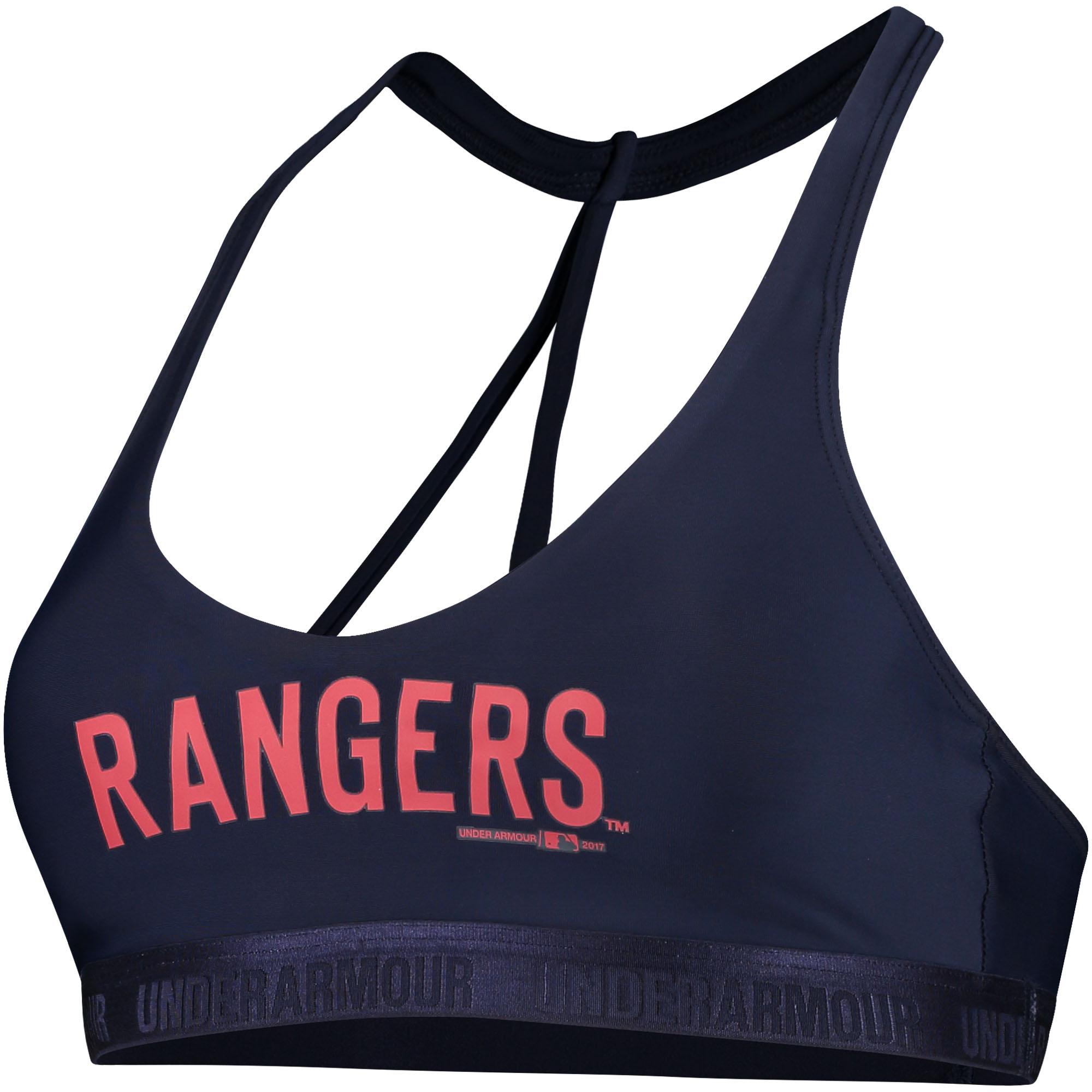 Texas Rangers Under Armour Women's Low Performance Sports Bra - Navy