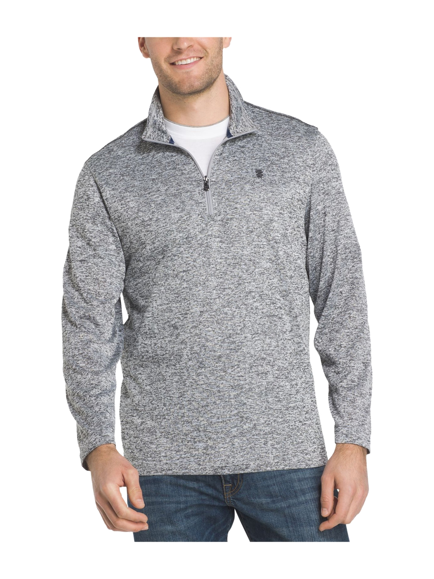 IZOD Men/'s Advantage Performance Natural Stretch 1//4 Zip Pullover Fleece Sweater
