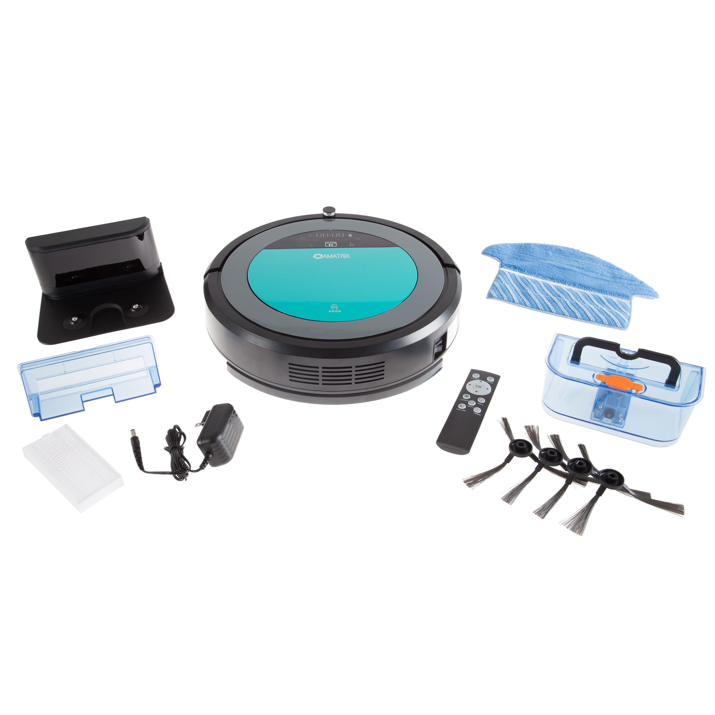 Amatrix V600 Robotic Vacuum and Mop Programmable Cleaner Carpets Wood Floors
