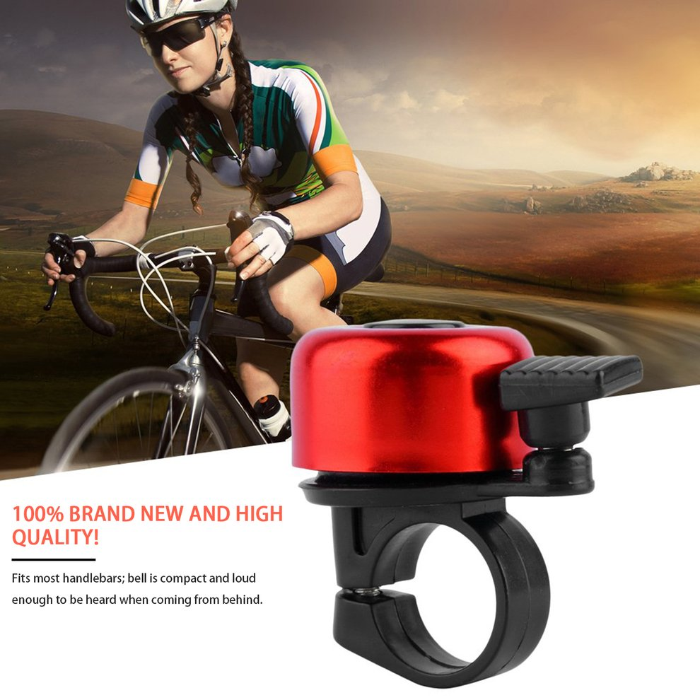 Wlgreatsp Security Loud Cycling Horn Bike Bicycle MTB Handlebar Ring Bell Horn Siren Alarm Classic Bicycle Bell for Adults Men Women Kids