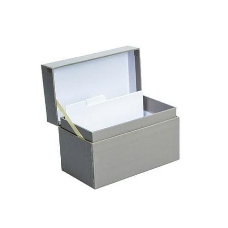Maple Recipe Box - Darice Recipe Box Grey