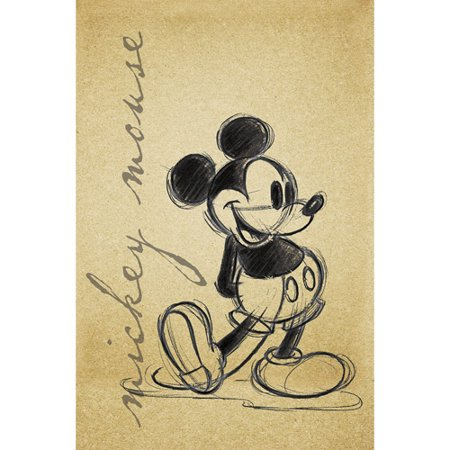 Canvas Art Work Mickey Mouse, 21.5\
