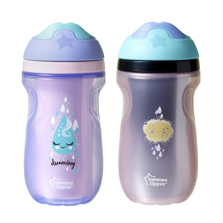 Tommee Tippee Insulated Sippee Toddler Tumbler Cup 12 Months 9 Ounce Girl 2 Count Walmart Com