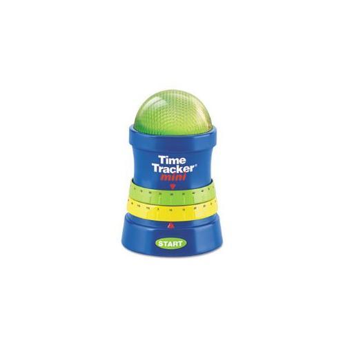 Time Tracker Mini Timer, 3 1/4w x 3 1/4d x 4 3/4h, Blue/Green/Red/Yellow- LER6909-LER6909