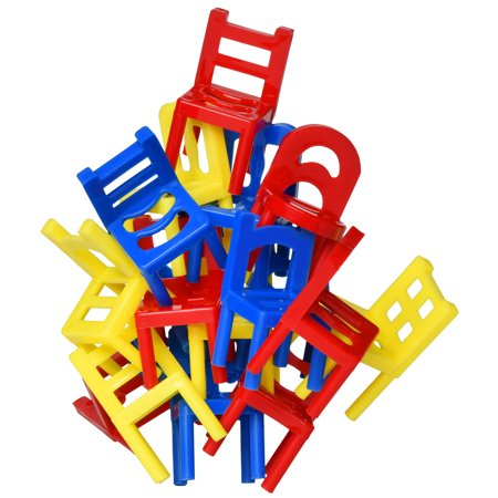 Family Party Games (Point Games Stacking Tower Balancing Game, Party Favor Stacking Toys - Pile-Up Suspend Family Games for Kids. (18 Chairs toys)