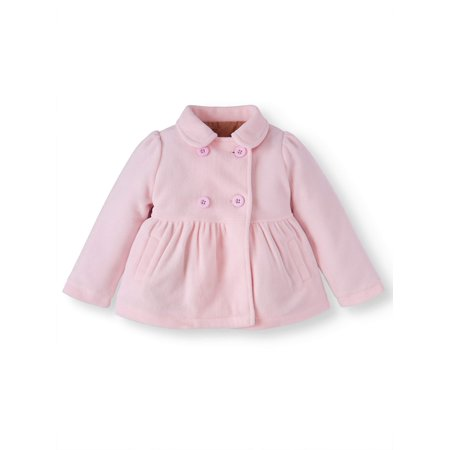 Petite Spandex Peacoat - Lavender Essential Peacoat Jacket (Baby Girls & Toddler Girls)