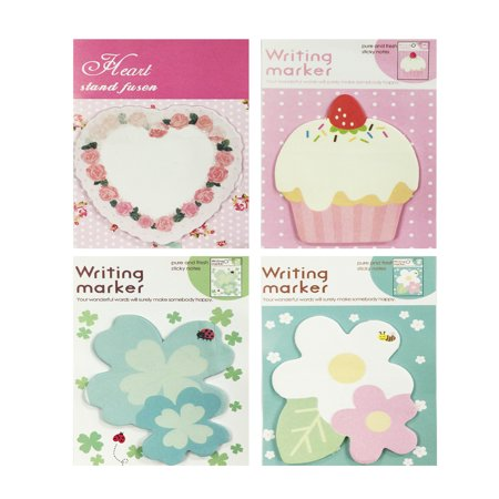 Wrapables® Sweet Floral Memo Sticky Notes (Set of 4)