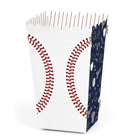 Batter Up - Baseball - Baby Shower or Birthday Party Favor Popcorn Treat Boxes - Set of 12 - Popcorn Party Ideas