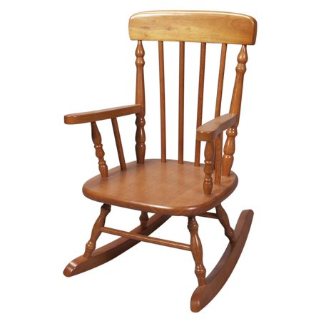 Childs Spindle Rocking Chair in Honey Finish - Walmart.com