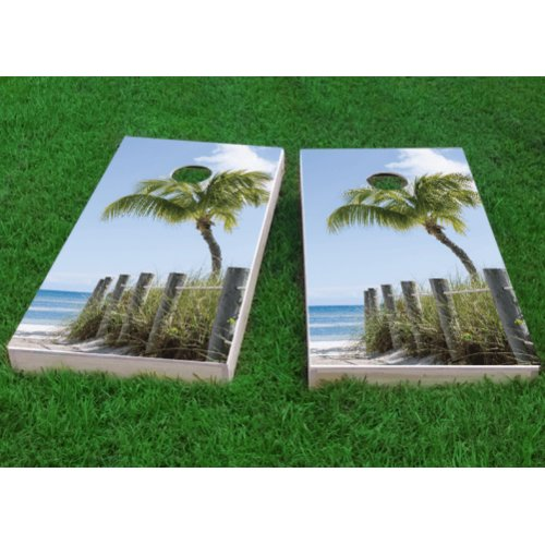 Custom Cornhole Boards Path to the Seas Cornhole Game (Set of 2) by Custom Cornhole Boards