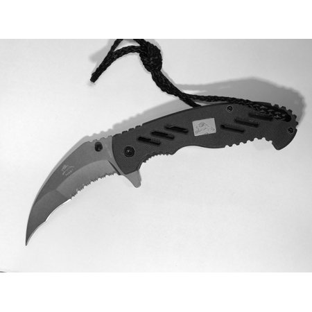 G10 Pocket (Assisted Opening Pocket Knife with Paracord G10 Handle and Silver Blade)