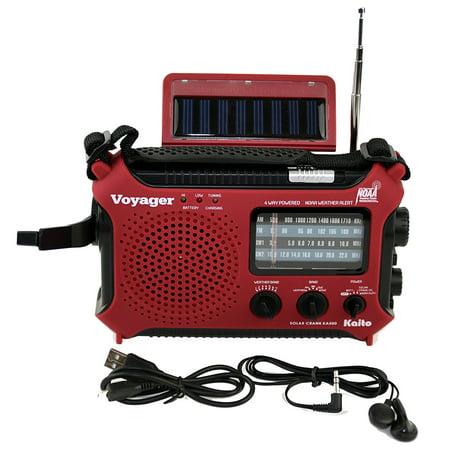 Kaito KA500 5-way Powered Emergency AM/FM/SW NOAA Weather Alert Radio with Solar Dynamo Crank Flashlight and Reading Lamp -