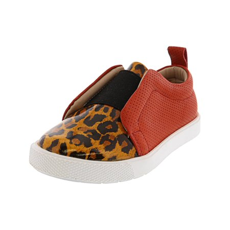 Leopard Flat Shoes (Elephantito Indie Slip-On Leopard Ankle-High Fashion Sneaker - 8M )