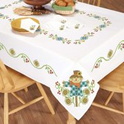 Herrschners Scarecrow Table Linens Stamped Cross-Stitch
