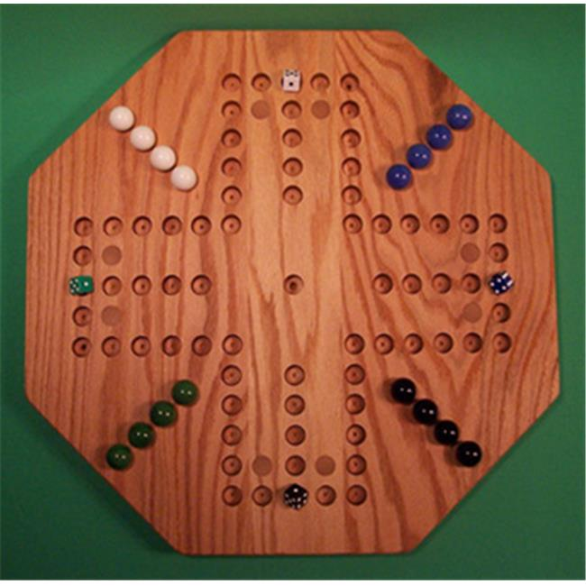 Charlies Woodshop W-1939alt.-1 Wooden Marble Game Board - Red Oak