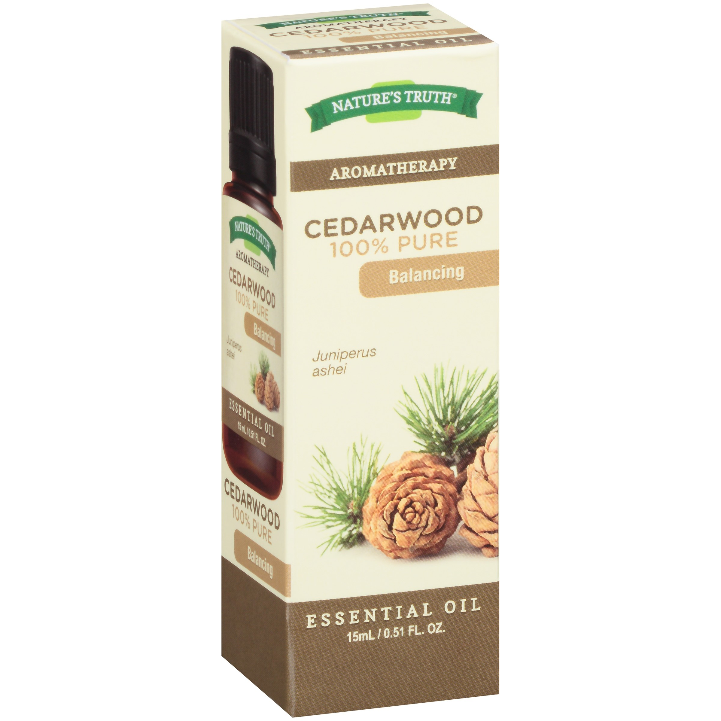 Nature's Truth Aromatherapy Cedarwood Essential Oil, 0.51 Fl Oz
