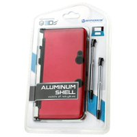 3DS Aluminum Shell plus Stylus Pens Kit - Red