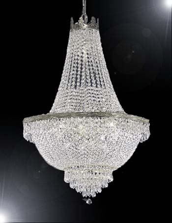 "French Empire Crystal Chandelier Lighting H30"" X W24"" by Gallery"