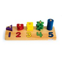 Excellerations Wooden Shape Number Counter (Item # NUMSHAPE)