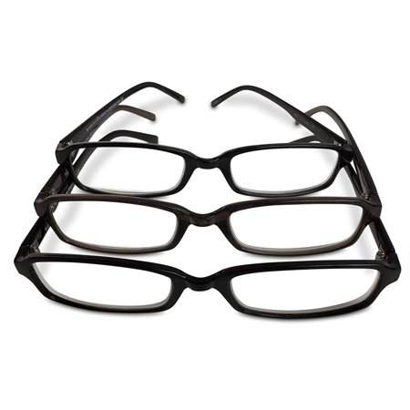 3 Pairs FGX Reading Glasses Hadley Black +2.00 10 Pair Reading Glasses