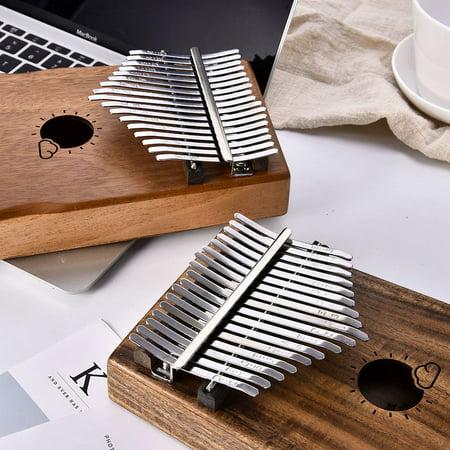 Muspor 17 Key Kalimba Mbira African Mahogany Thumb Piano Finger Musical Instrument with Bag - image 2 de 7