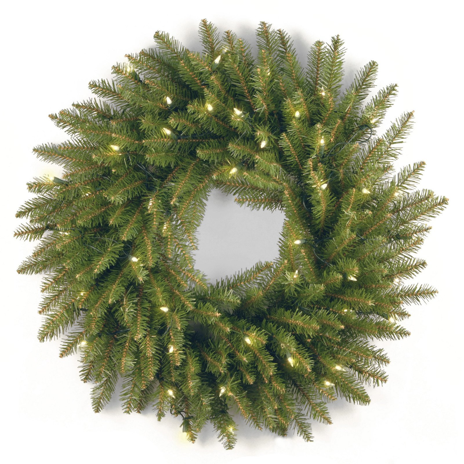 """National Tree Company 24"""" Dunhill(R) Fir Wreath with Clear Lights"""