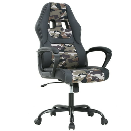 Ergonomic Office Chair Cheap Desk Chair PC Gaming Chair Rolling PU Leather Swivel Chair Executive Computer Chair Lumbar Support for Women, Men(Camo) (Swivel Desk Chair Leather)