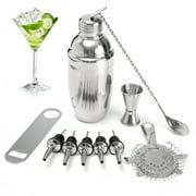 11Pcs Cocktail Shaker Set Maker Martini Spirits Muddler Bar Strainer Jigger Tool