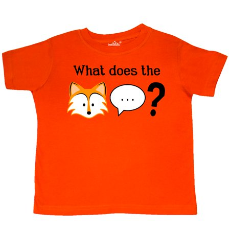 Inktastic What Does The Fox Say  Toddler T Shirt Ylvis Say Youtube Trending Gift