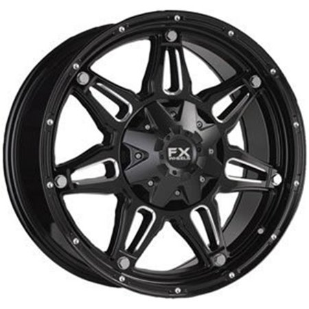 FX14 Series 20 x 9 in., 5 x 5 in. & 5 x 135 in. Truck Wheels, Satin Black Milled - 1 mm Offset 5 X 135 Bolt Pattern