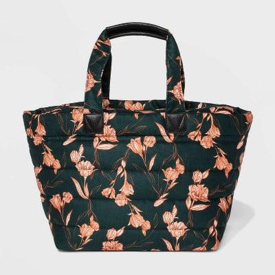 Jacks Outlet Green Damask Pattern Sports Bag
