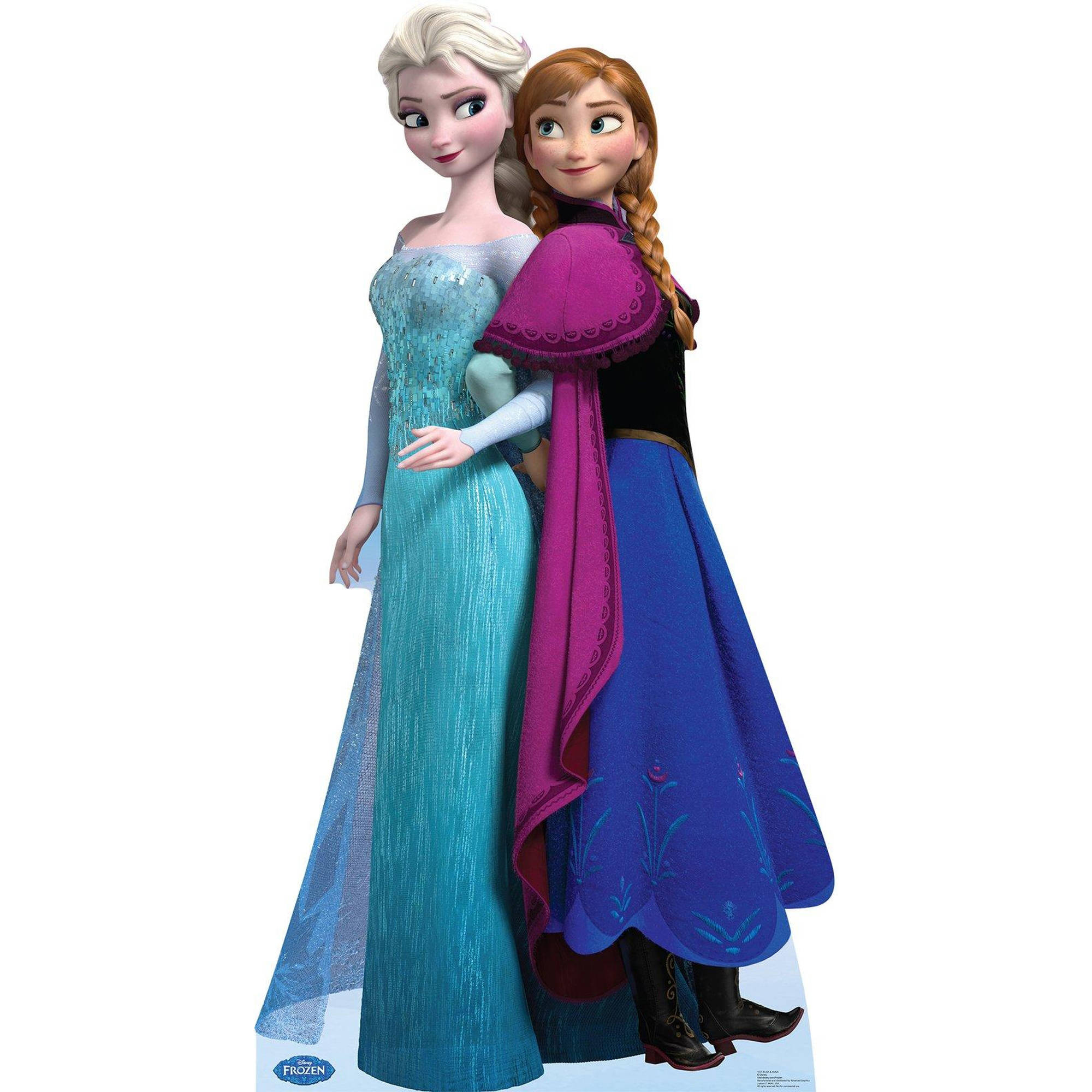 Disney Frozen Elsa and Anna Standup, 6' Tall
