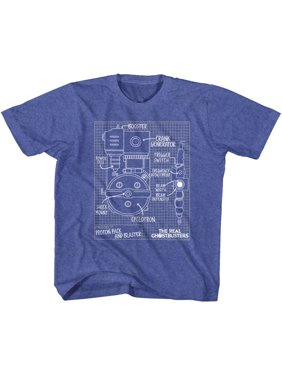 d6998e4263d45 Product Image The Real Ghostbusters Blueprints Vintage Royal Toddler  T-Shirt Tee