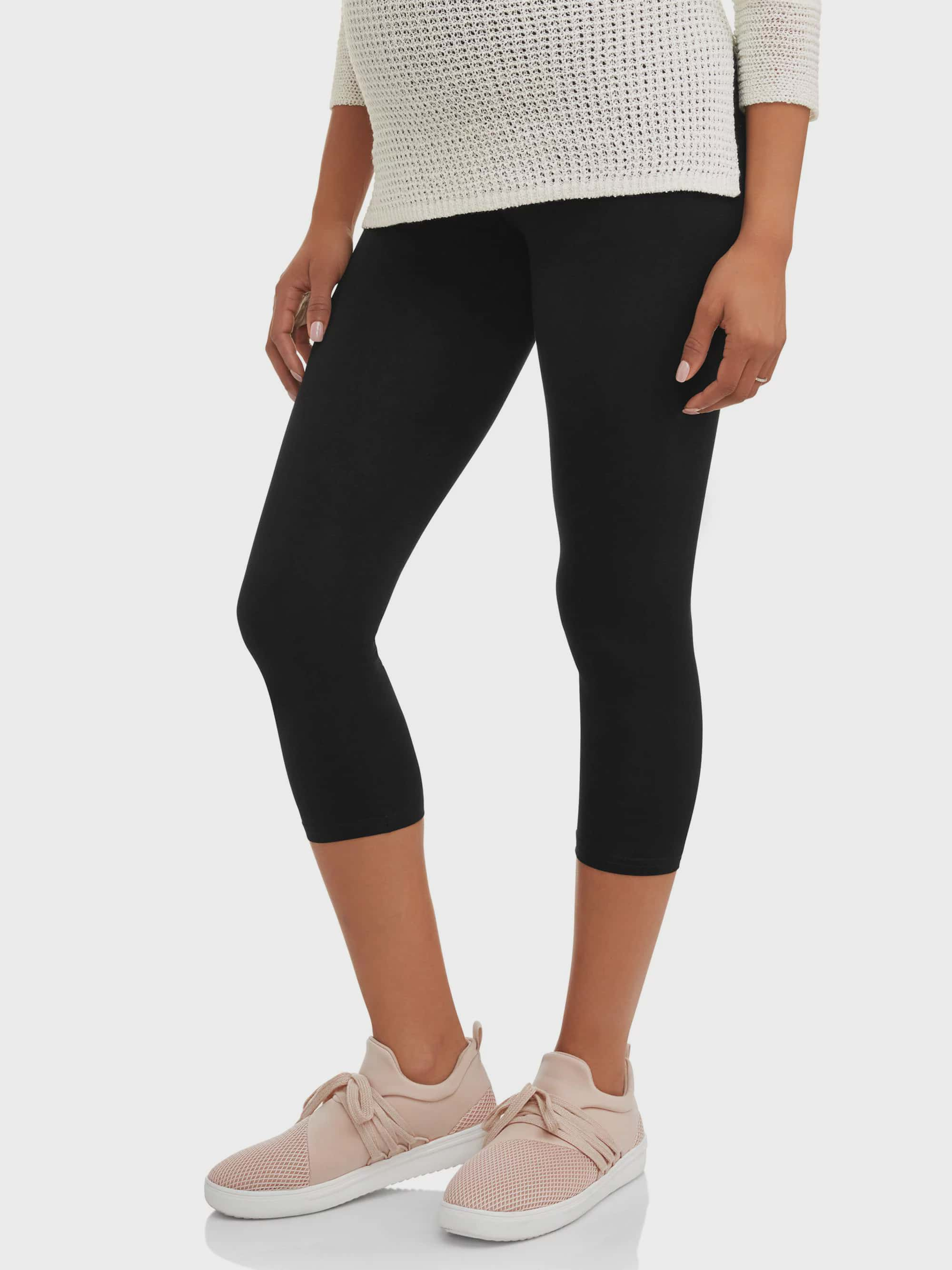 Maternity Full-Panel Capri Leggings-- Available in Plus Size by