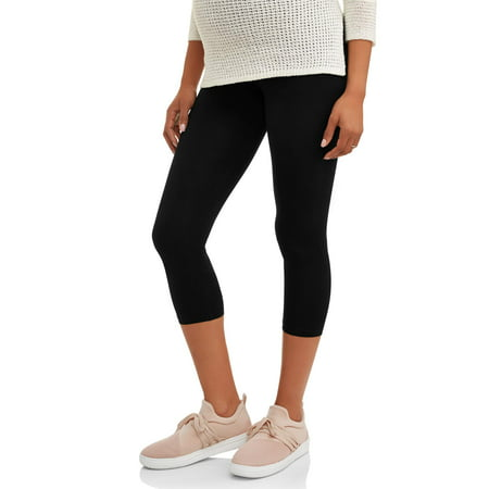 cfac0577594 Oh! Mamma - Maternity Full-Panel Capri Leggings-- Available in Plus Size -  Walmart.com