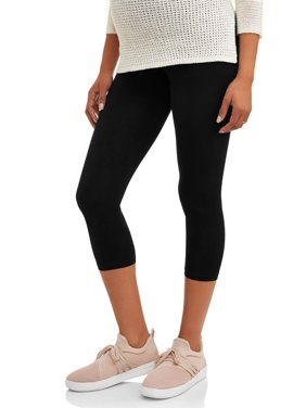 e3f77ca057b11 Product Image Maternity Full-Panel Capri Leggings-- Available in Plus Size