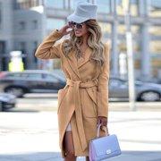 Women Warm Wool Blends Long Winter Coat