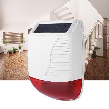HURRISE 433MHz Wireless Outdoor Waterproof Solar Power Light Sound Siren  Alarm for GSM Alarm System,Sound Siren Alarm,Solar Powered Siren Alarm