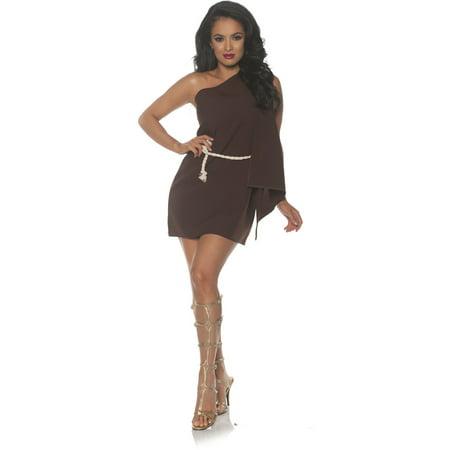 Ancient Greece Costumes (Women's Ancient Greek Roman Brown Toga Costume Medium)