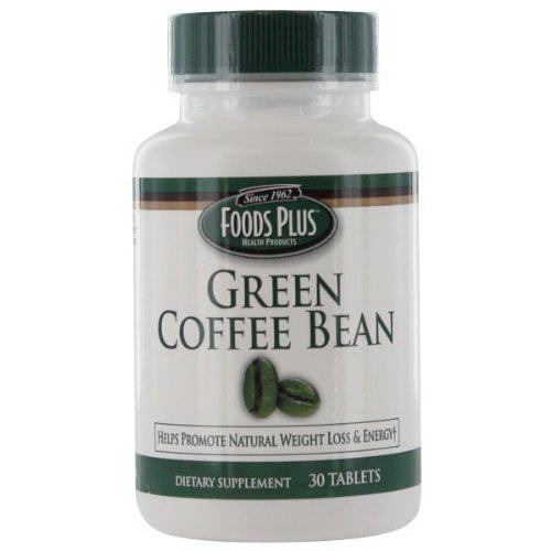 Green Coffee Bean Extract By Foods Plus, Tablets - 30 Ea