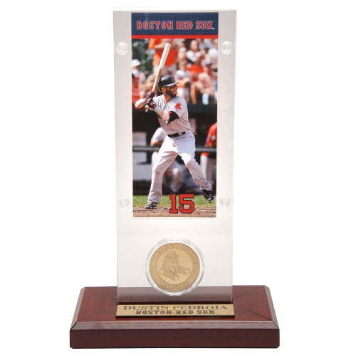 Dustin Pedroia Boston Red Sox Highland Mint Acrylic Player Ticket with Minted Coin - No Size