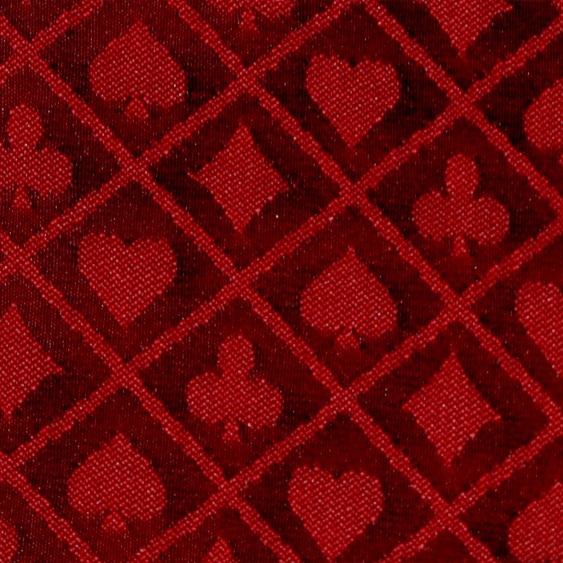 Brybelly 10' Section of Red Two-Tone Poker Table Speed Cloth by