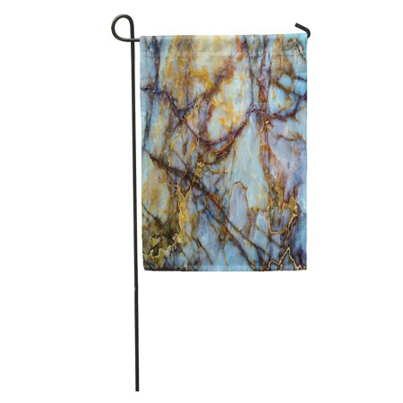 LADDKE Red Gold Unique of Natural Stone Marble Onyx Granite Brown White Masterpiece Garden Flag Decorative Flag House Banner 12x18 (Onyx Granite Marble)