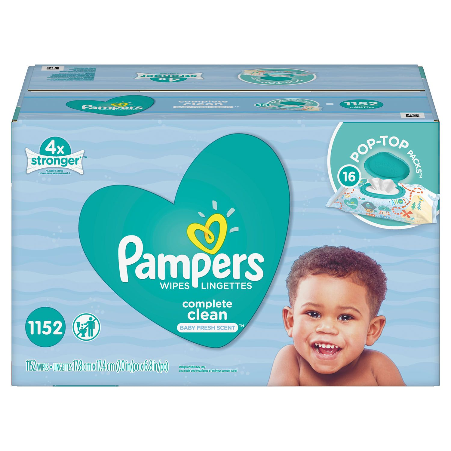 Pampers Complete Clean Baby Wipe Refills, Baby Fresh Scent (1152 ct.)