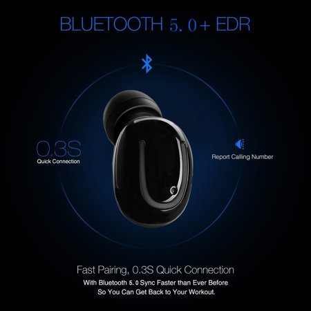 Stereo Music Headphone IPX5 Sweatproof Mini Wireless Headphone. 3D Sports Stereo Wireless Bluetooth Earbud with charging case. Upgrade bluetooth V5.0 In-Ear Headphone. - image 4 of 17