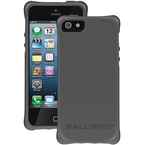 BALLISTIC LS0955-M145 iPhone(R) 5/5s LS Smooth Case (Charcoal with 4 Orange 4 Charcoal 4 Black 4 Teal Bumpers)