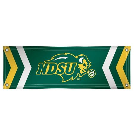NDSU Bison 2' x 6' Vinyl Banner - Green - No Size - Vinyl Banners Cheap